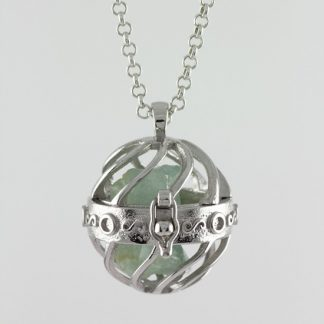The Locket - Silver Pendant with Gemstones