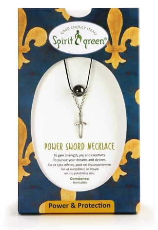 Power Sword Necklace with Hematite
