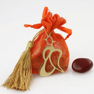 Angel Pouch with Red Agate