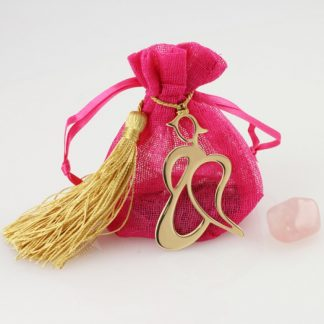 Angel Pouch with Pink Quartz