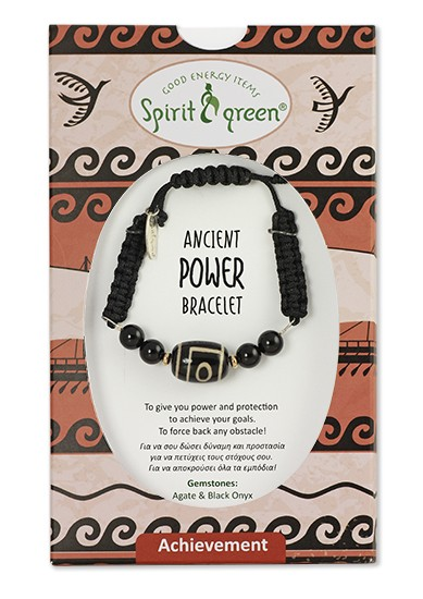 Ancient Power Bracelet with Agate and Onyx