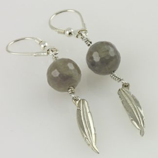 Soul Silver Earrings with Labradorite