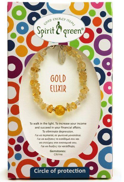 Gold Elixir Bracelet with Citrine