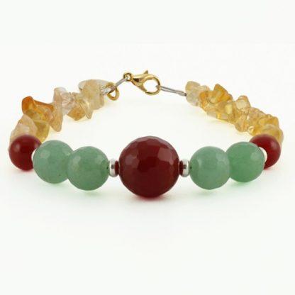 Make your Wish True Bracelet with Citrine, Aventurine and Carnelian