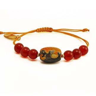 On Fire Bracelet with Carnelian and Fire Agate