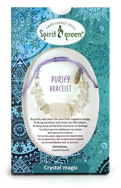 Purify Bracelet with Crystal Quartz