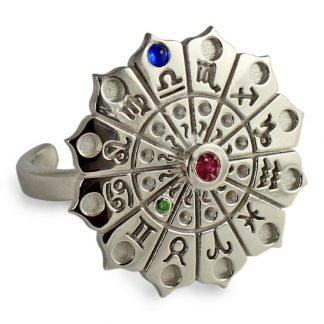 Astrology Wheel Silver Ring