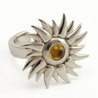 Sun Silver Ring with Citrine