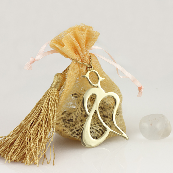Angel Pouch with Crystal Quartz