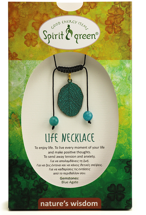Life Necklace - Blue Agate