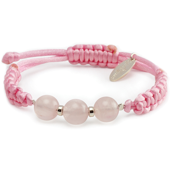 The power of 3 - Pink Quartz Bracelet