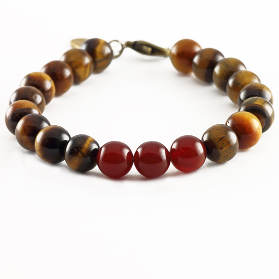 Passion Bracelet - Carnelian, Tiger's Eye